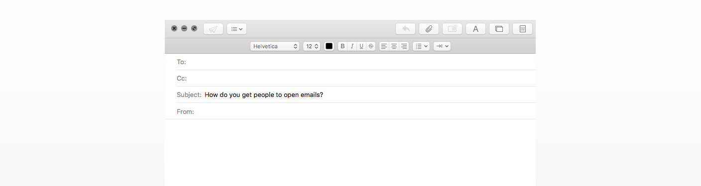 email subject line